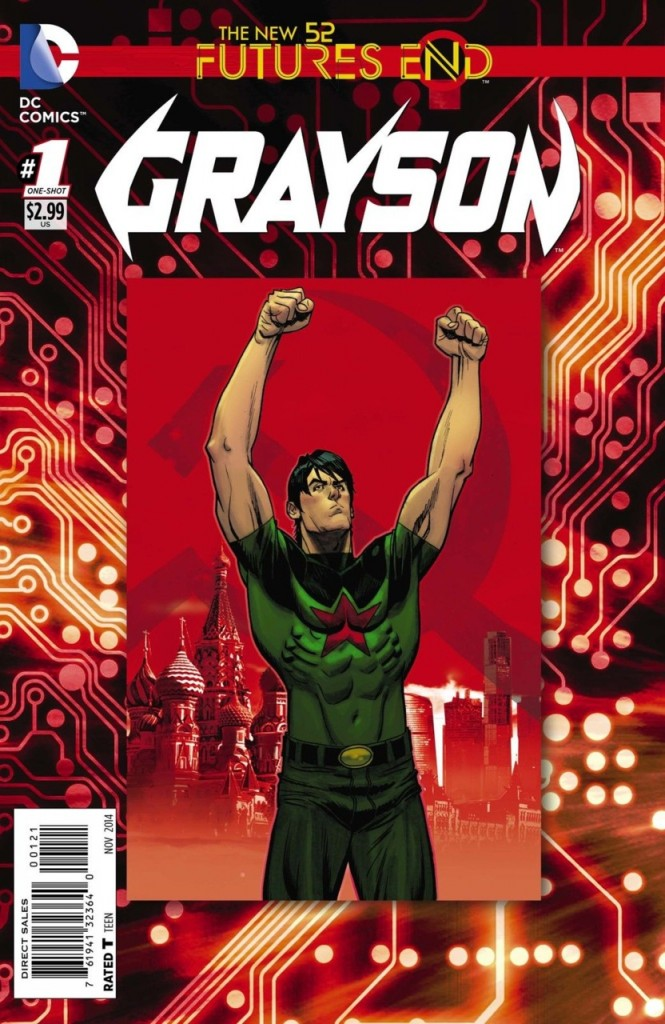 'Grayson - Futures End' #1 cover by Andrew Robinson