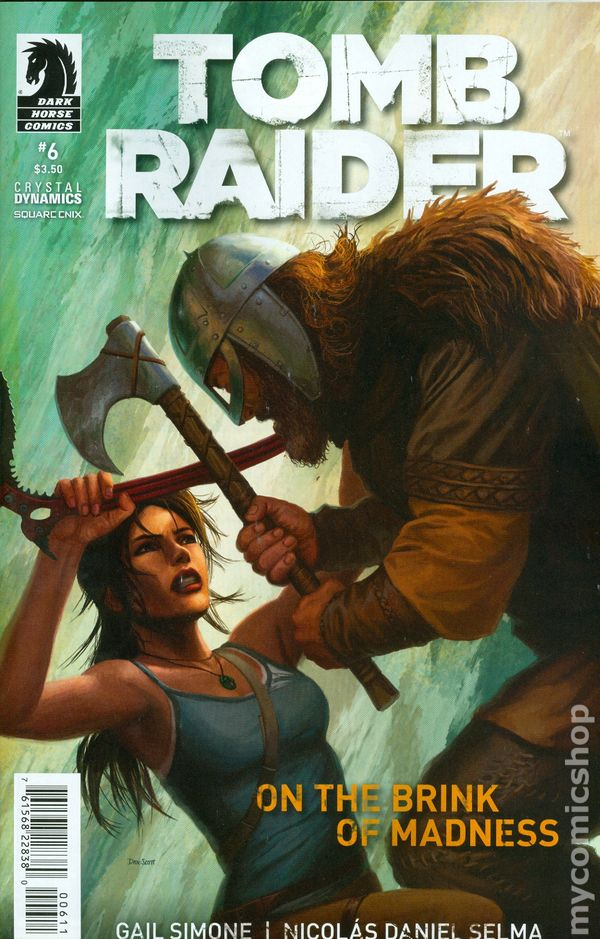 Cover art for 'Tomb Raider' #6 by Dan Scott