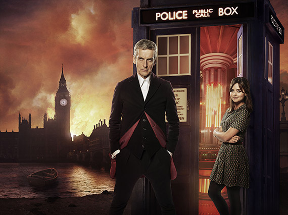 Peter Capaldi & Jenna Coleman in 'Doctor Who'