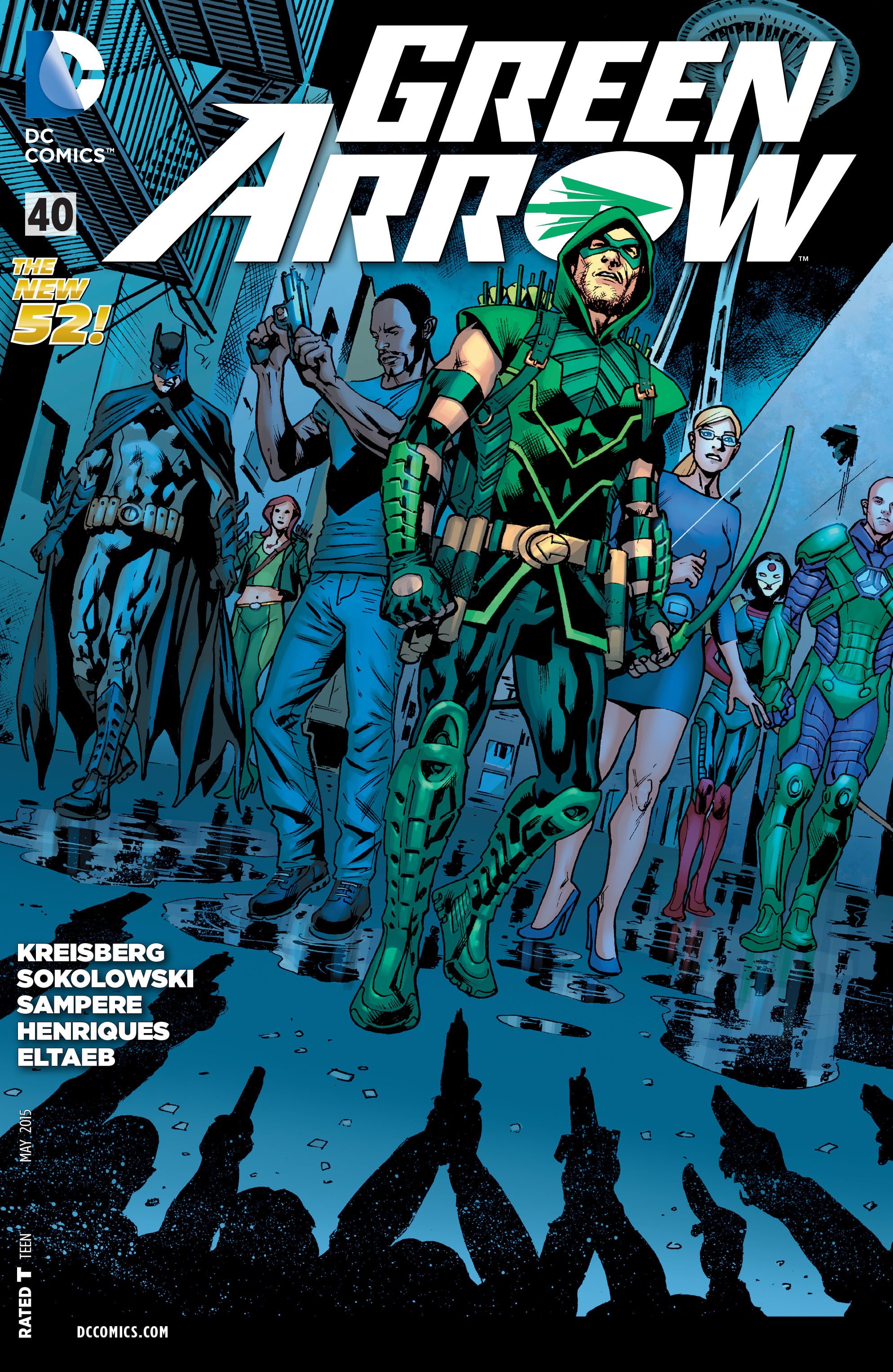 Cover art for 'Green Arrow' #40 by Bryan Hitch & Alex Sinclair