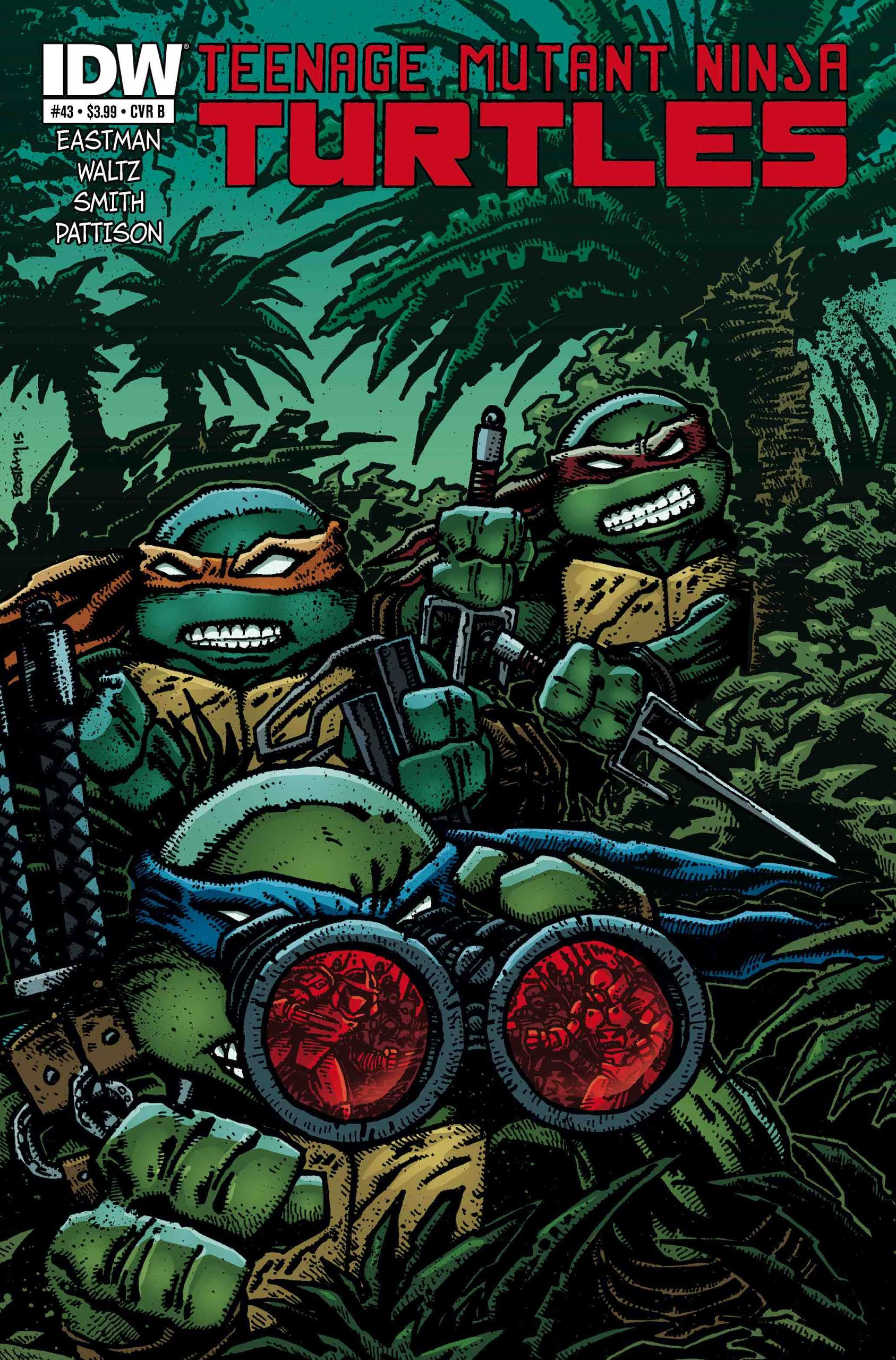 Teenage Mutant Ninja Turtles #43 cover by Kevin Eastman