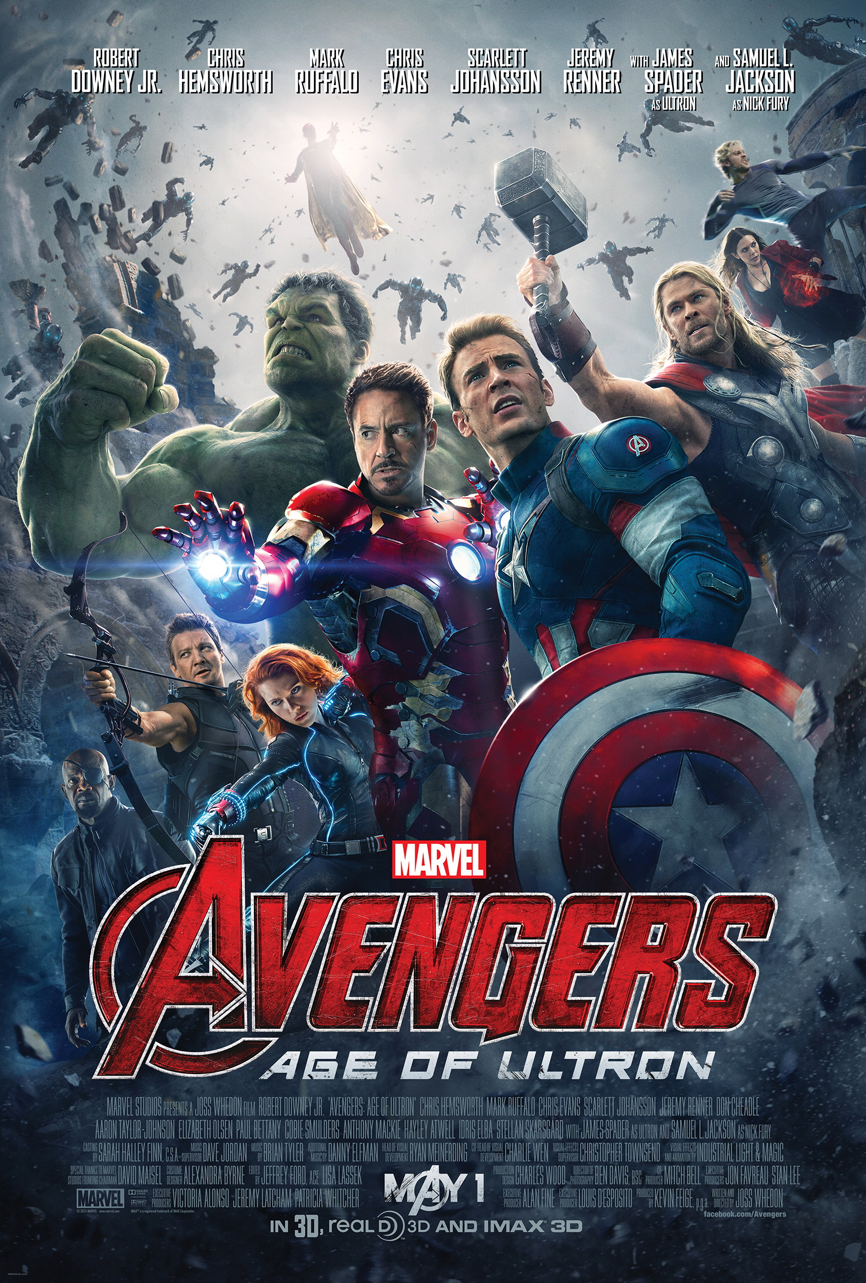 'Avengers: Age of Ultron' (2015) theatrical poster