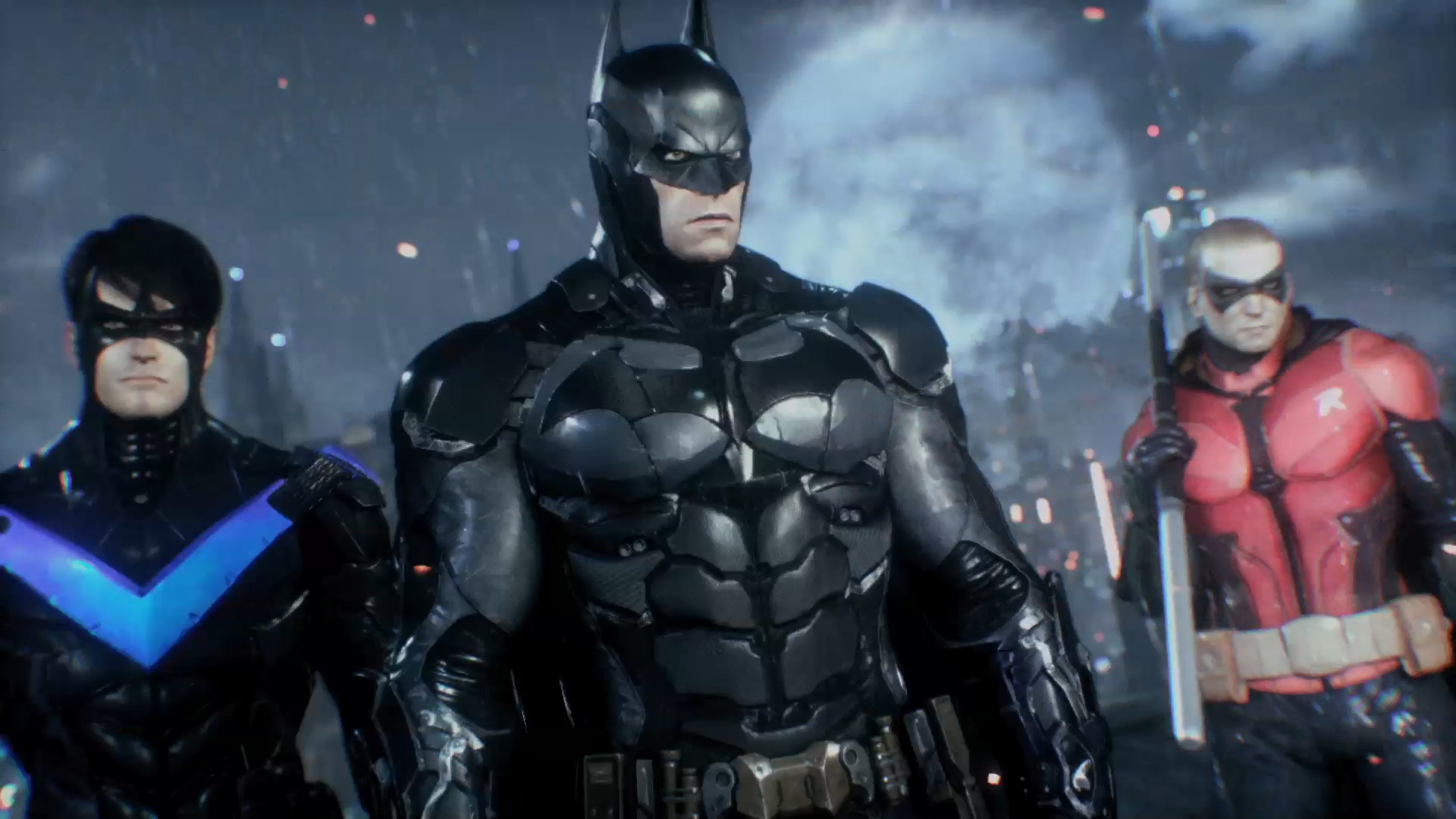Batman, Nightwing and Robin in 'Batman: Arkham Knight'