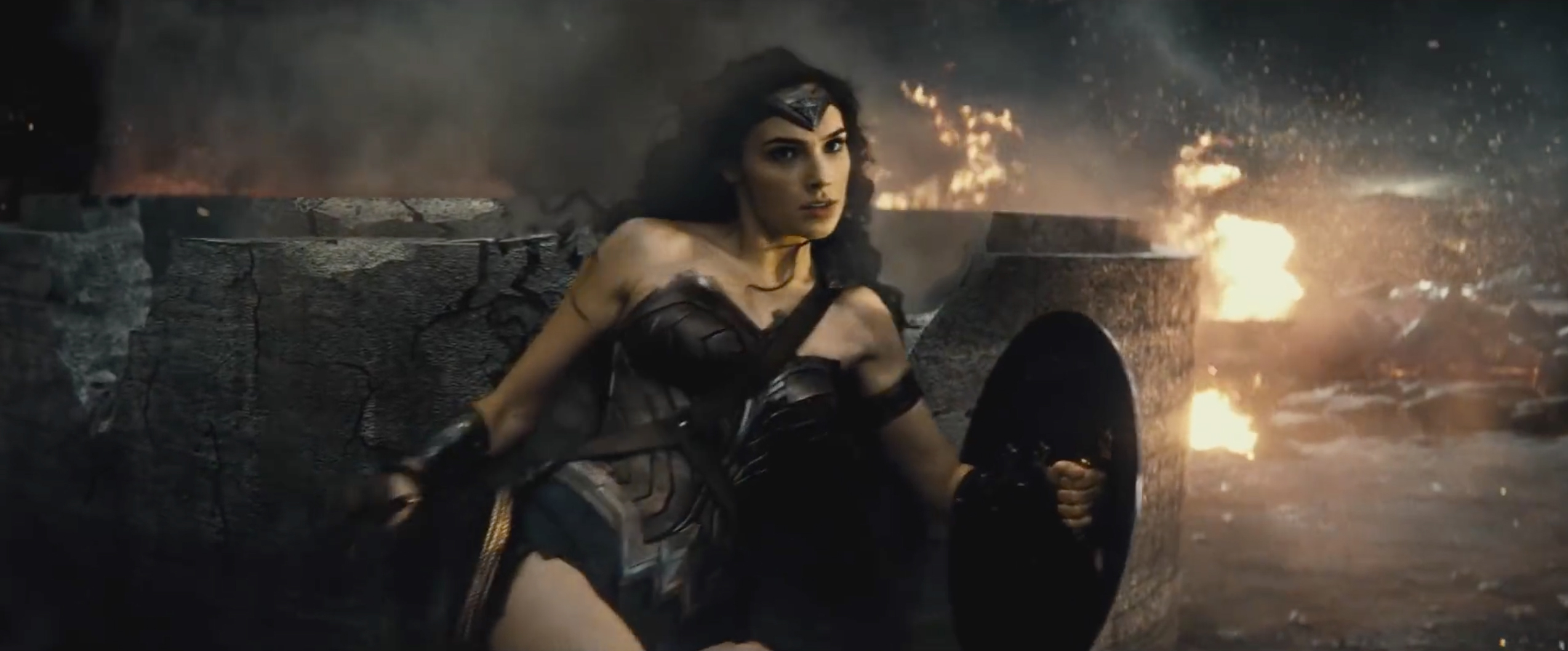 Gal Gadot as Wonder Woman in Warner Bros. 'Batman v Superman: Dawn of Justice'