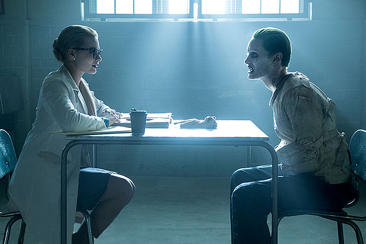 Margot Robbie and Jared Leto in 'Suicide Squad'