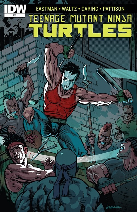 'Teenage Mutant Ninja Turtles' #52 cover art by Ken Garing