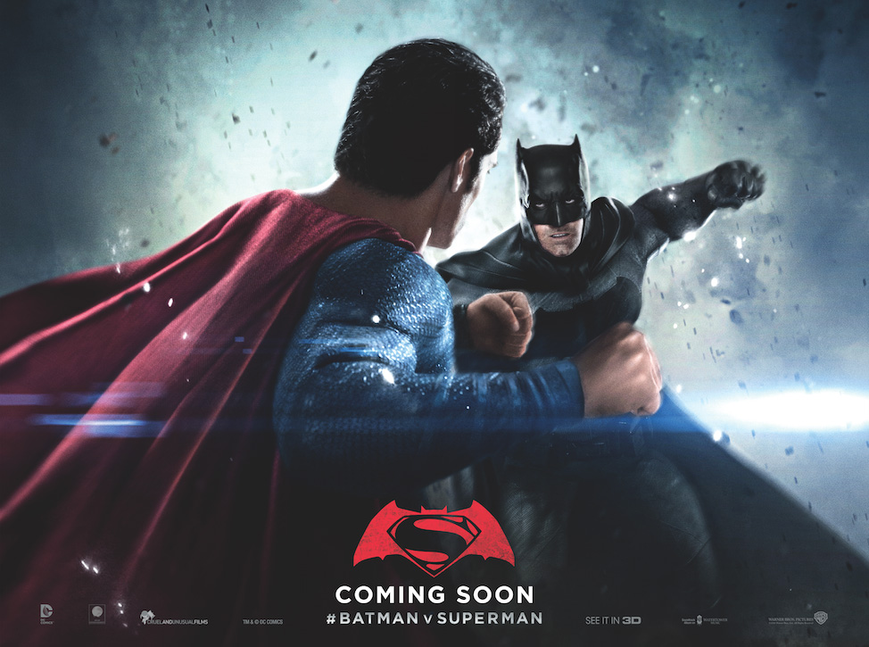'Batman v Superman: Dawn of Justice' quad poster