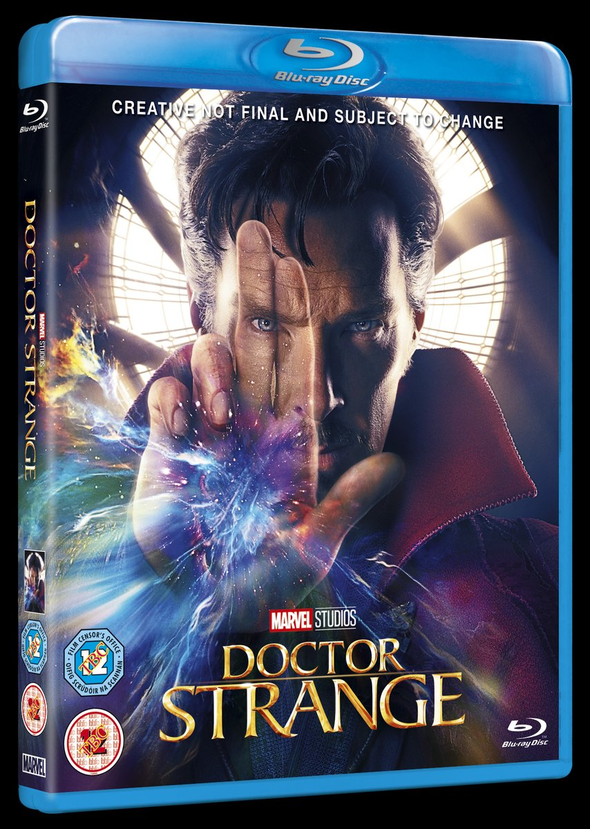 'Doctor Strange' UK Blu-ray cover art