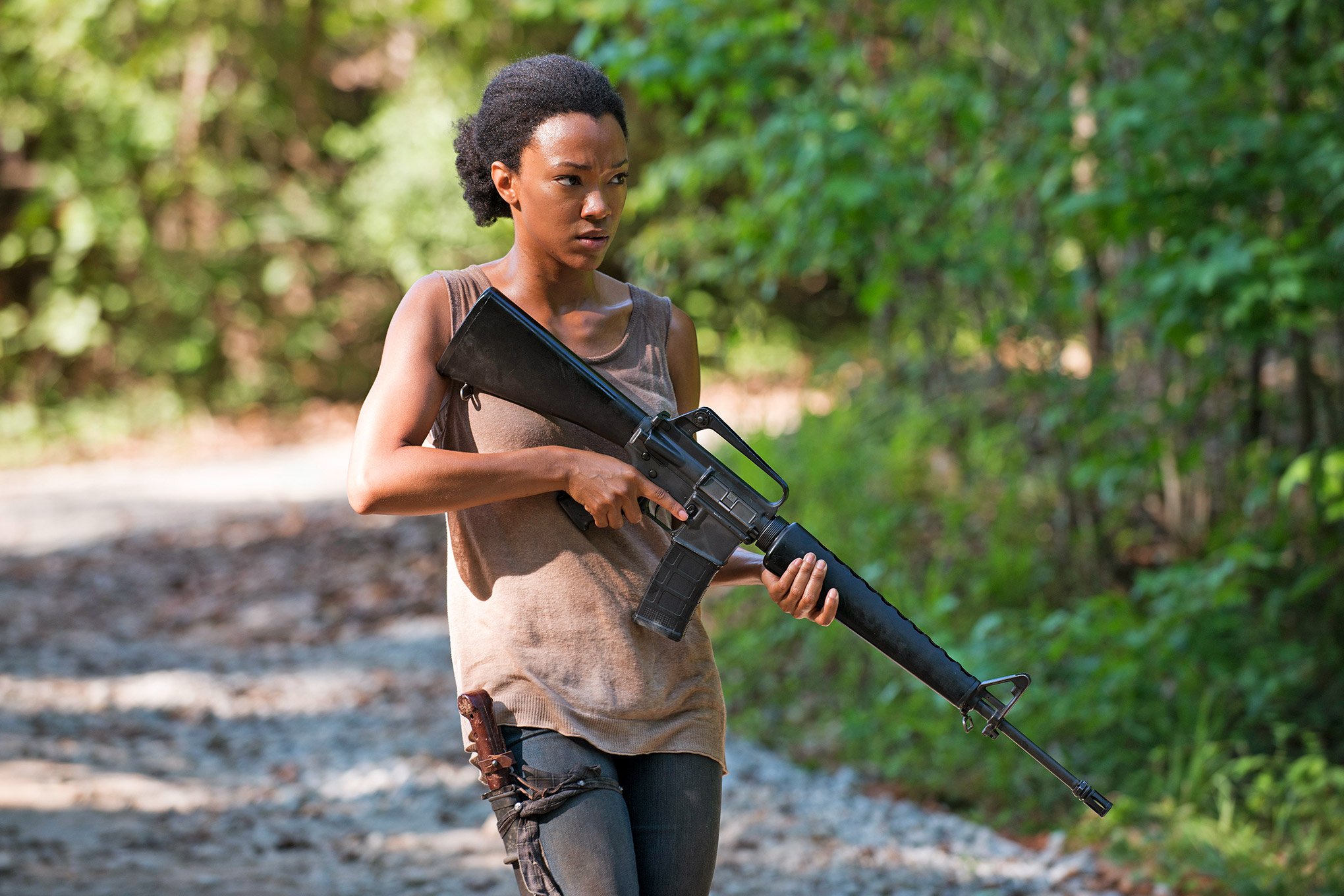 Sonequa Martin-Green in 'The Walking Dead'