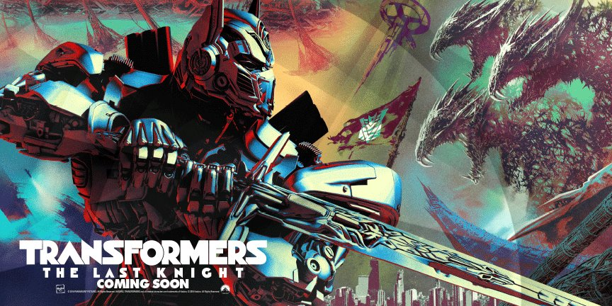 'Transformers: The Last Knight' banner art