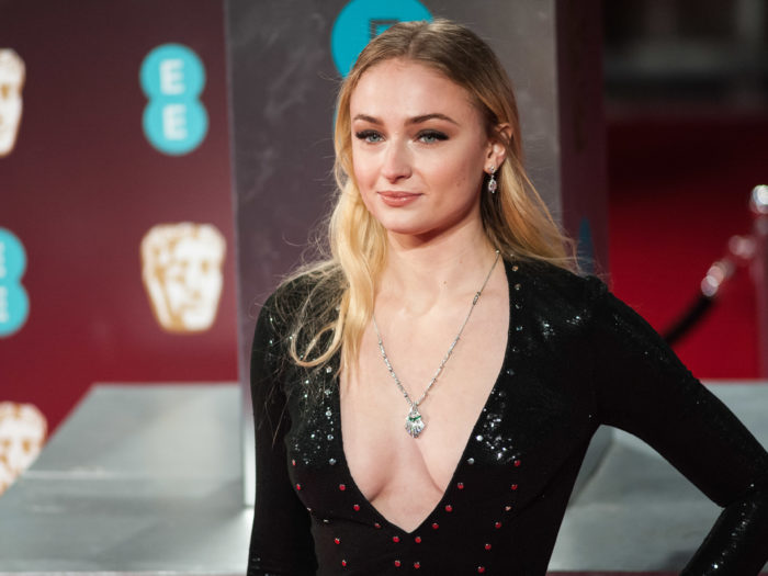LONDON, UNITED KINGDOM - FEBRUARY 12: Sophie Turner attends the 70th British Academy Film Awards (BAFTA) ceremony at the Royal Albert Hall on February 12, 2017 in London, England.<br /> PHOTOGRAPH BY Wiktor Szymanowicz / Barcroft Images<br /> London-T:+44 207 033 1031 E:hello@barcroftmedia.com -<br /> New York-T:+1 212 796 2458 E:hello@barcroftusa.com -<br /> New Delhi-T:+91 11 4053 2429 E:hello@barcroftindia.com www.barcroftimages.com (Photo credit should read Wiktor Szymanowicz / Barcroft Im / Barcroft Media via Getty Images)