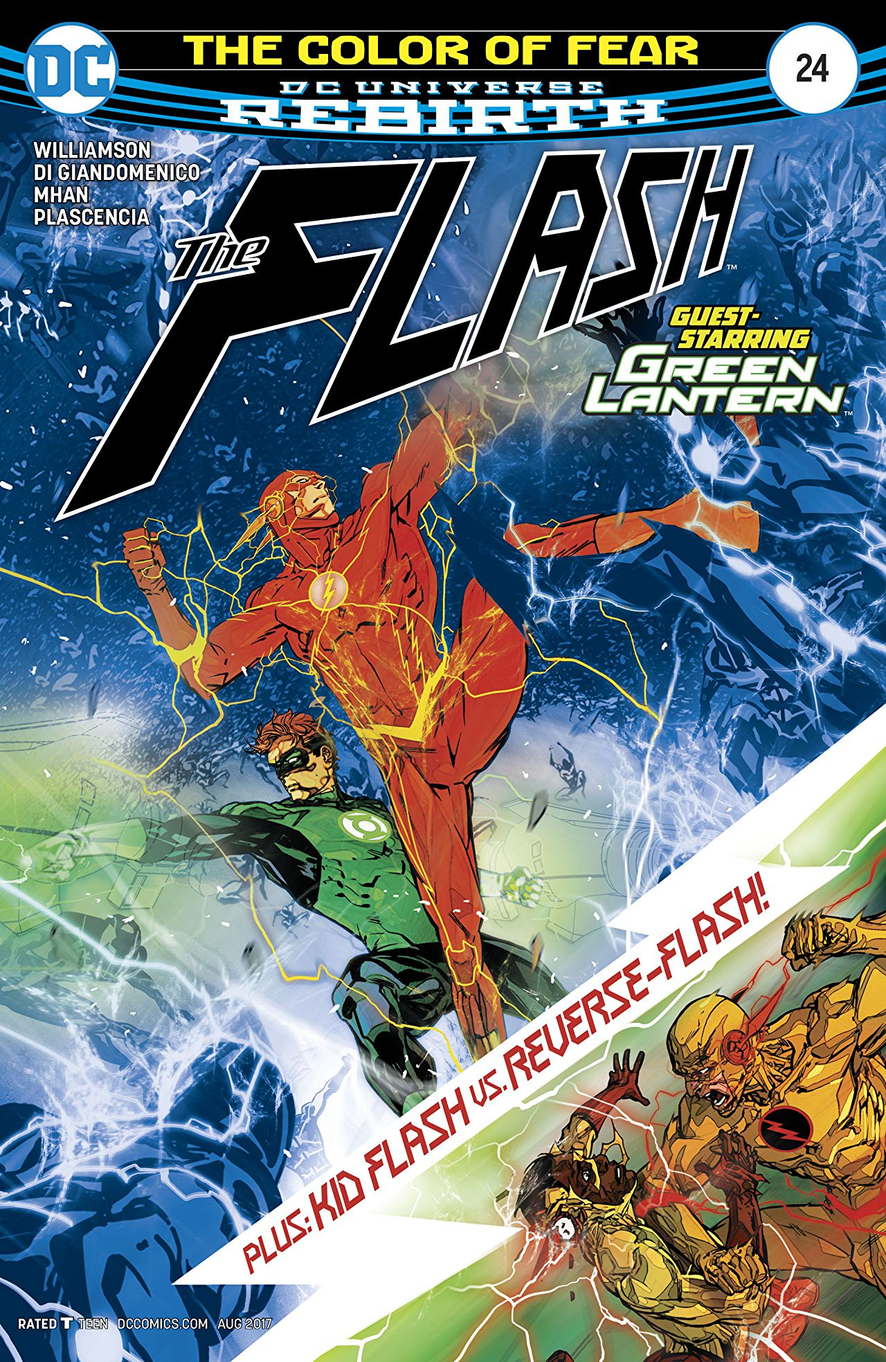 The Flash #24 cover by Carmine Di Giandomenico