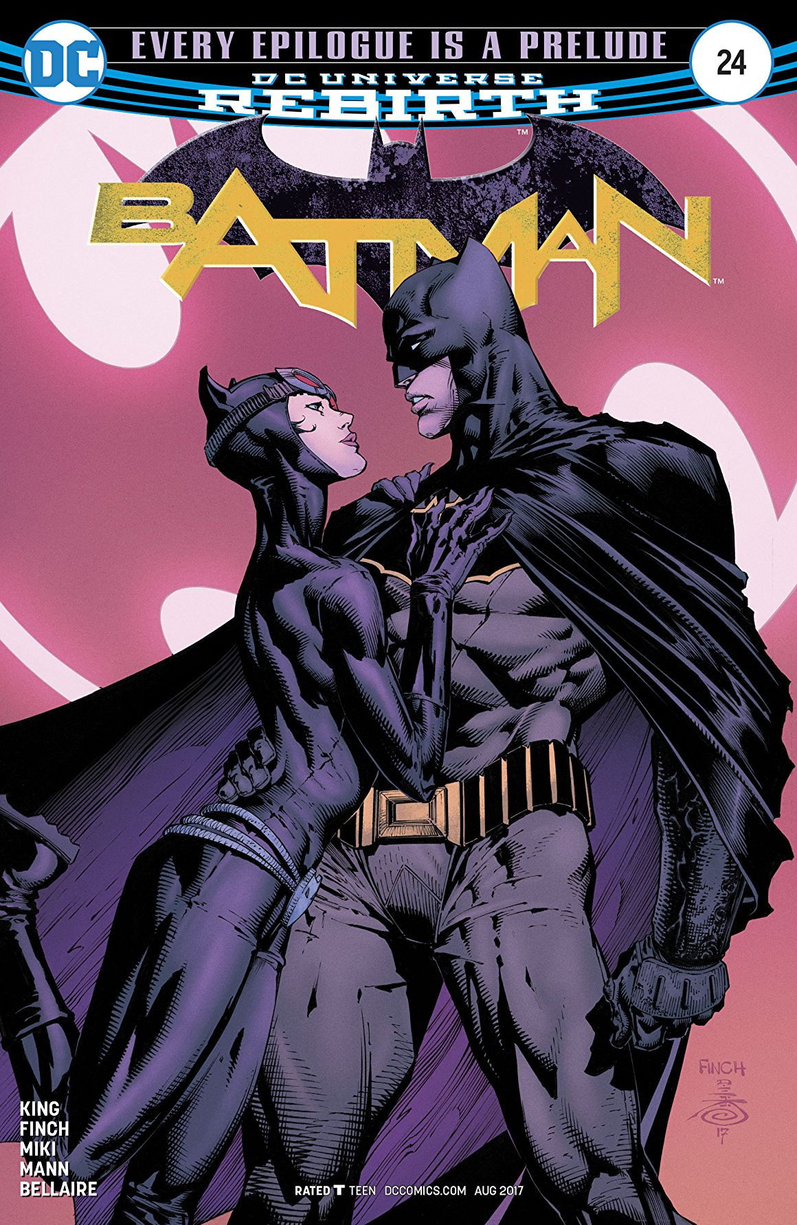 Batman #24 cover by Jordie Bellaire, David Finch and Danny Miki