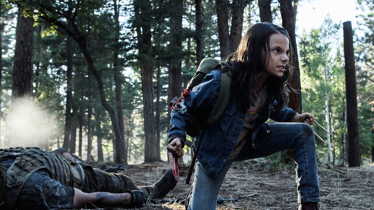 Dafne Keen as Laura/X-23 in 'Logan'