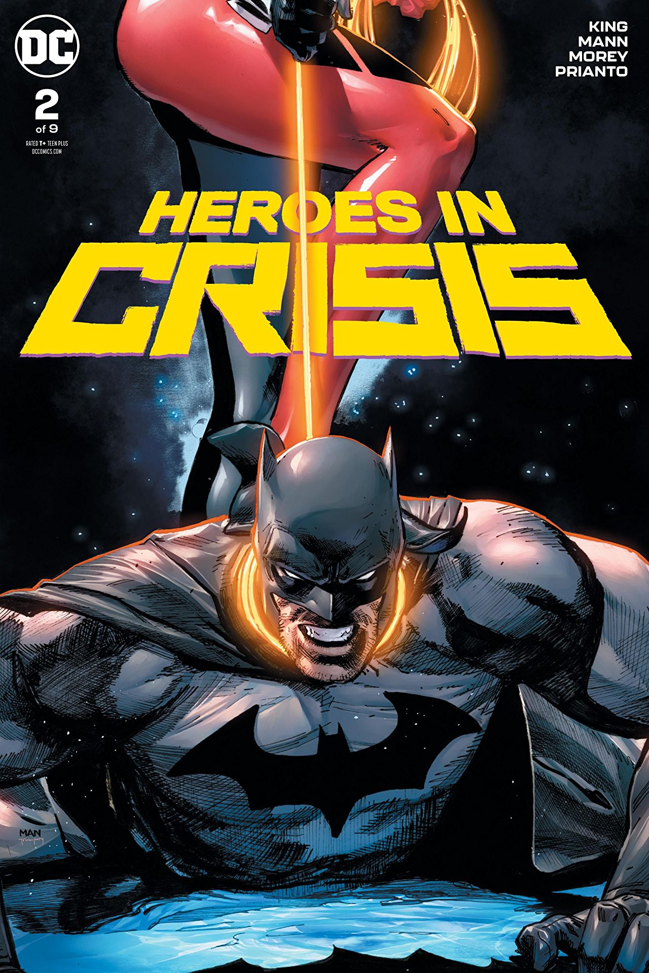 Heroes in Crisis #2 cover by Clay Mann and Tomeu Morey