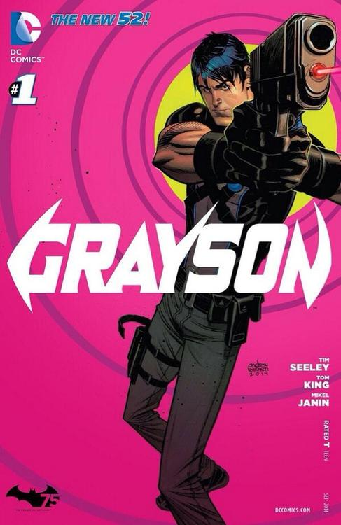 'Grayson' #1 cover by Andrew Robinson