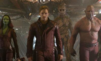Chris Pratt, Zoe Saldana, Dave Bautista in Marvel's 'Guardians of the Galaxy'