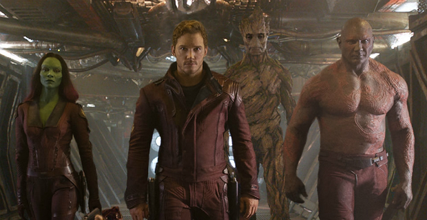 Chris Pratt, Zoe Saldana, Dave Bautista in Marvel's 'Guardians of the Galaxy'