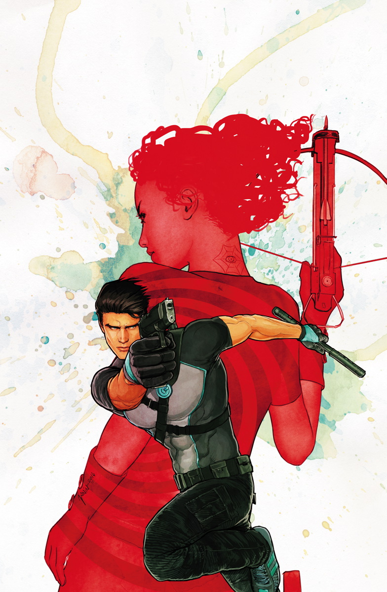 Cover art for 'Grayson' #2 by Mikel Janin