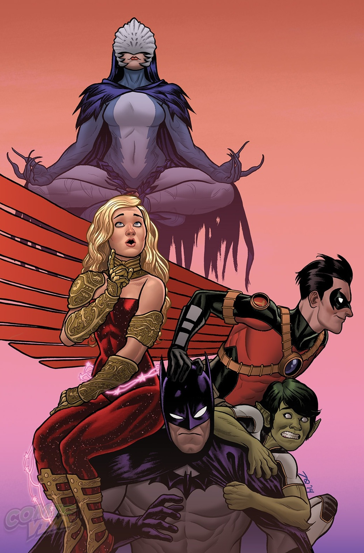 Variant cover art for 'Teen Titans' 2014 #1 by Joe Quinones
