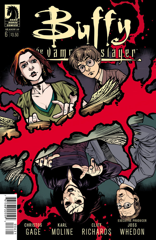 Cover art for 'Buffy the Vampire Slayer' Season 10 #6 by Rebekah Isaacs and Dan Jackson
