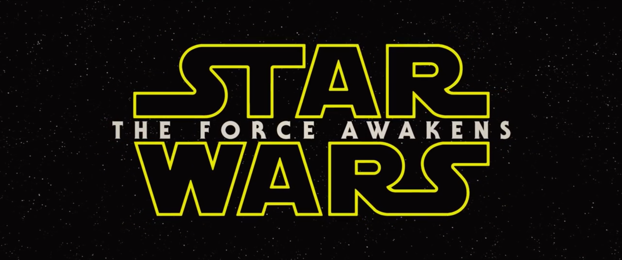 'Star Wars The Force Awakens' logo