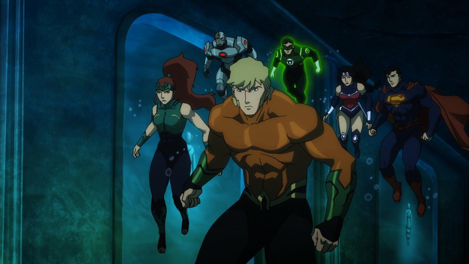 The heroes of 'Justice League: Throne of Atlantis'