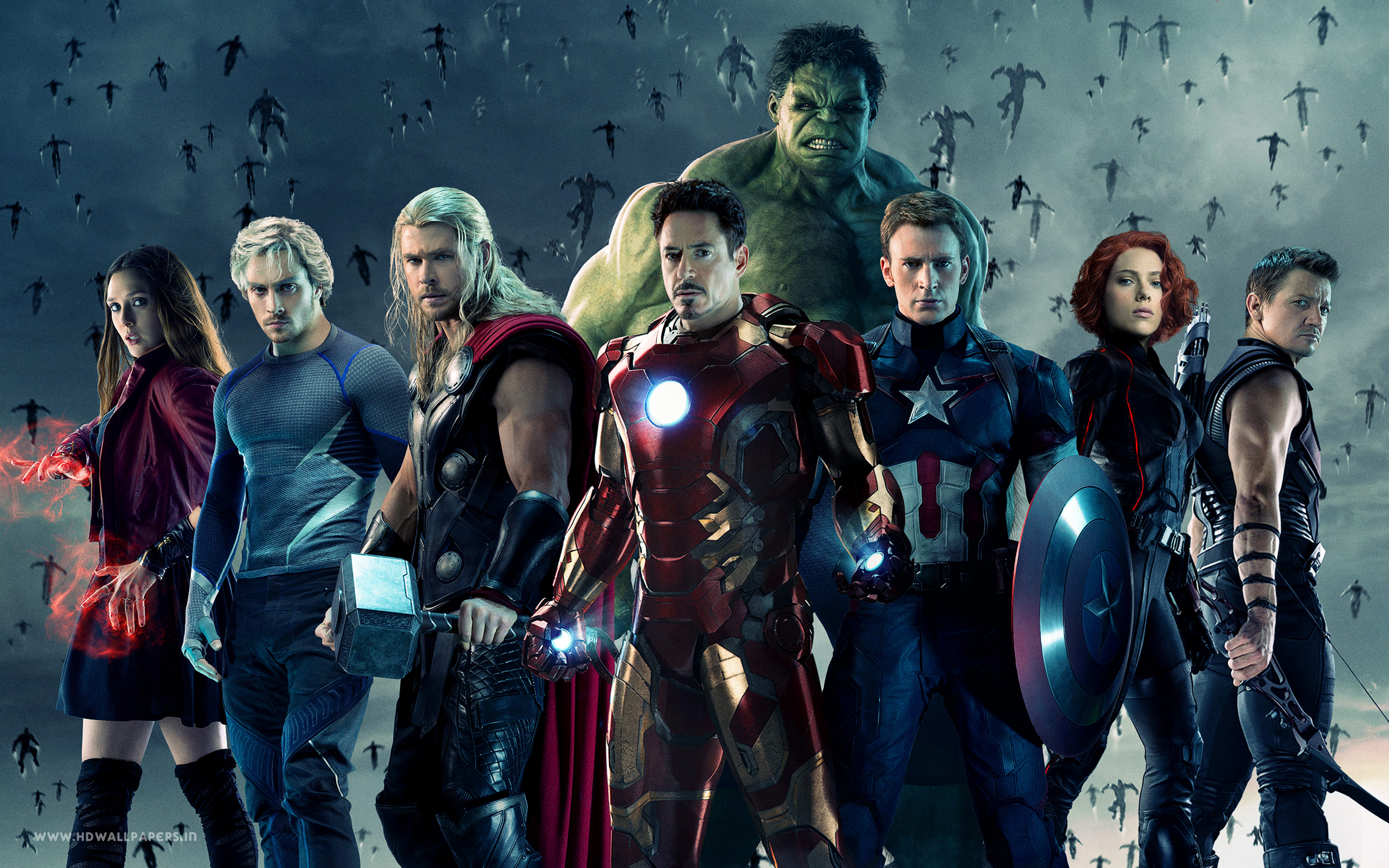 The cast of heroes from Joss Whedon's 'Avengers: Age of Ulton' (2015)