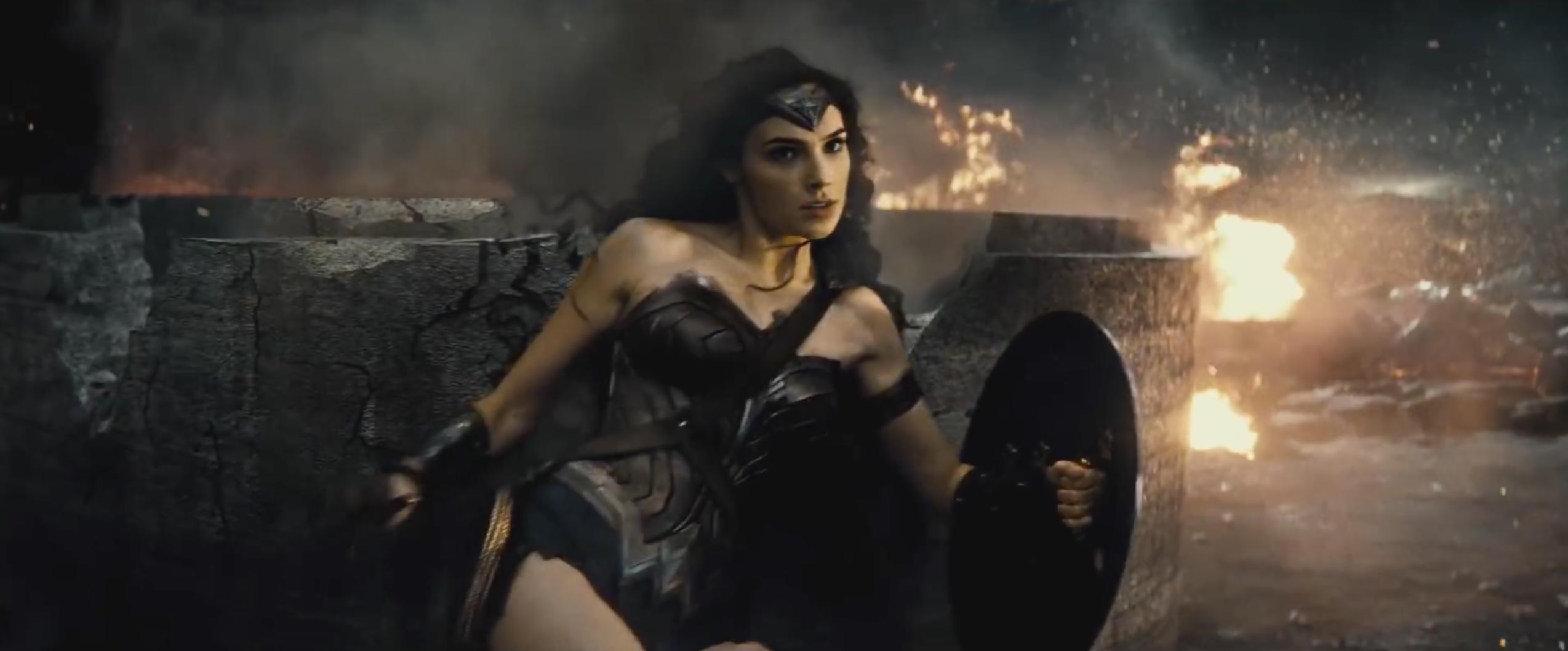 Gal Gadot as Wonder Woman in Warner Bros. 'Batman v Superman: Dawn of Justice'