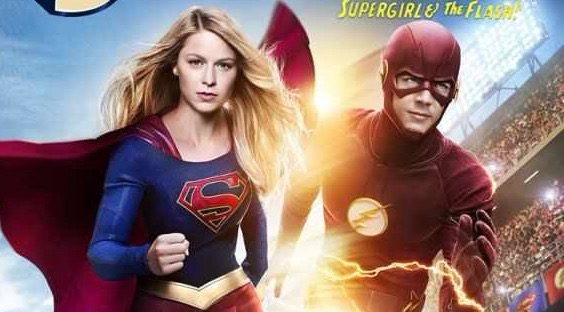 Promp poster for 'Supergirl' & 'The Flash' crossover