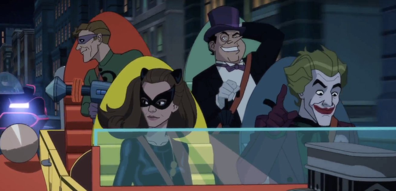 The villains of 'Return of the Caped Crusaders'