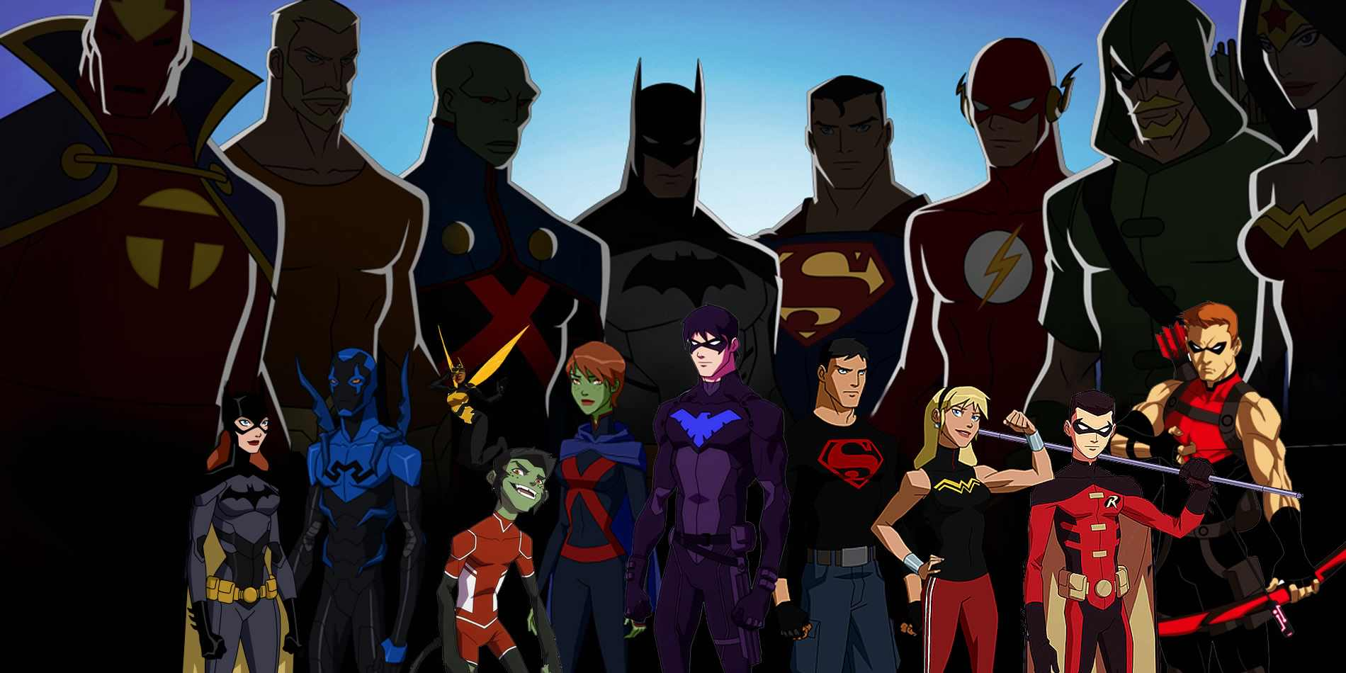 The cast of 'Young Justice'