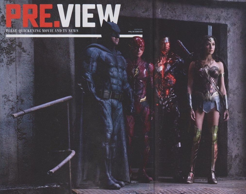 Ben Affleck, Ezra Miller, Ray Fisher & Gal Gadot in 'Justice League'