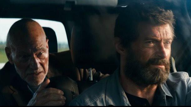 Hugh Jackman & Patrick Stewart in 'Logan'