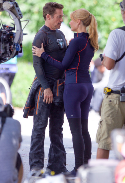 Gwyneth Paltrow on set of Avengers 4
