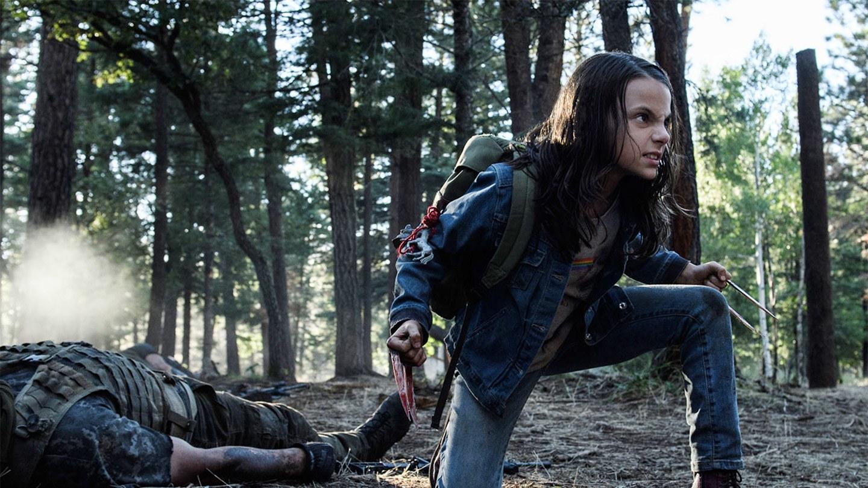 Dafne Keen as Laura/X-23 in 'Logan'